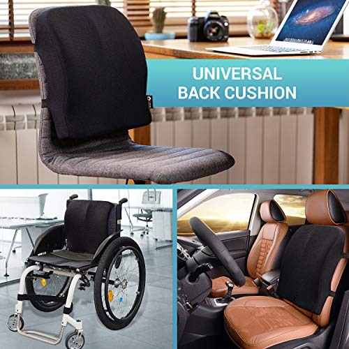 Product Image 5: Back Support for Office Chair - Memory Foam Lumbar Pillow - Perfect Cushion for Car, Computer and Desk Seat