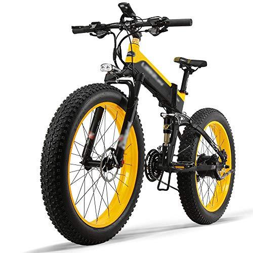 Carsparadisezone Vélo Électrique Pliant 500W 26 Pouces 40km/h Vélo de Montagne avec Batterie au Lithium 12.8AH 48V Shimano 27 Vitesses Autonomie 80km VTT Grande capacité pour Homme Femme