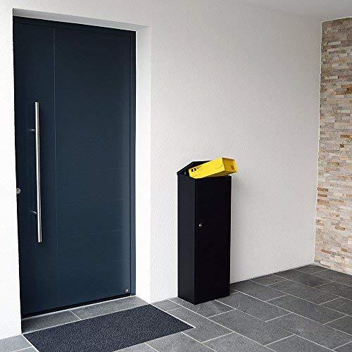 Profirst Mail PM 1100 Stand Paketbriefkasten Schwarz Briefkasten Paketfach Paketbox - 4
