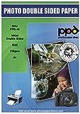 PPD Inkjet 210 g/m2 Schweres Fotopapier Beidseitig Matt Beschichtet Hochauflösend - ideal auch als hochwertiges Broschürenpapier und Flyerpapier - DIN A4 x 200 Blatt PPD045-200