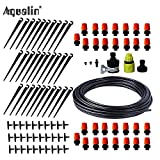 TINI 25m Automatic Micro Drip Irrigation System Garden Irrigation Spray Self Watering Kits with Adjustable Dripper #26301-1 Yellow