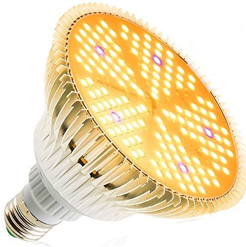 100W LED Pflanzenlampe E27 Vollspektrum Grow Light, 150 LEDs Pflanzenlicht Grow Lampe Pflanzenlampen Sonnenähnliche Pflanzenleuchte Wachstumslampe für Zimmerpflanzen Garten Gewächshaus Hydroponik