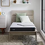 LUCID 6 Inch Memory Foam Soft Feel – Gel Infusion – Hypoallergenic Bamboo Charcoal – Breathable Cover Mattress, Twin, White