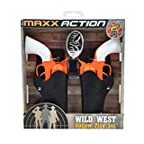 Sunny Days Entertainment Wild West Outlaw Play Set – 5 Piece Orange Western Toy for Kids | Cowboy Sheriff Cap Pistol with Holster and Adjustable Belt | Ring Caps Sold Separately