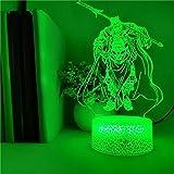 Lámpara de mesa de personaje de dibujos animados en 3D, base de crack, lámpara de decoración del hogar de fiesta de luz nocturna colorida LED
