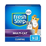 Fresh Step Multi-Cat Extra Strength Scented Litter with the Power of Febreze, Clumping Cat Litter,Gray, 14 Pounds (Package May Vary)