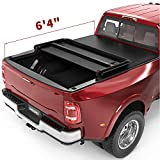 oEdRo Upgraded Soft Tri-fold Truck Bed Tonneau Cover Compatible with 2002-2021 Dodge Ram 1500...