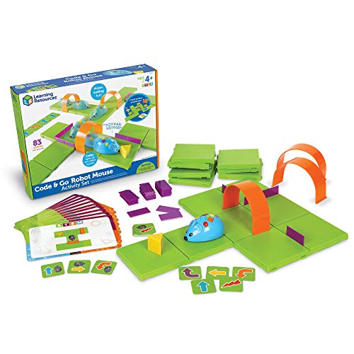 Learning Resources- Code & Go Conjunto de Actividades del ratón Robot, Color (LER2831)
