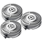 SH50/52 Replacement Heads for Philips Norelco Series 5000 and AquaTouch Shavers, Razor Blades Lift and Cut Sharp No Pulling Hair Shaver Heads Easy Install (6 Packs)