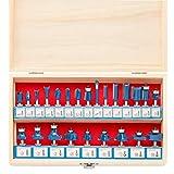 Hiltex 10108 Tungsten Carbide Router Bit Set, 24 Piece   1/4-Inch Shank