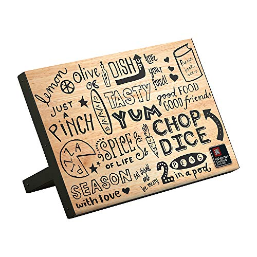 Richardson Sheffield DOODLE magnetischer Messerblock, Holz, schwarz beschriftet, integrierte Magnet-Leiste, 22.2 x 13.5 x 31.5 cm, Magnet Messerblock, Messerhalter Messermagnet