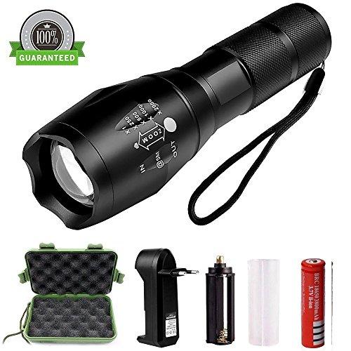 Best007 LED Linternas Recargable USB Linterna Tactica Alta Potencia Militar Linterna,5...