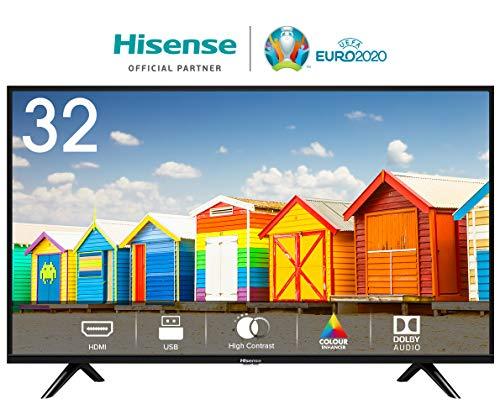 HISENSE H32BE5000 TV LED HD 32/81 cm, Natural Colour Enhancer, Clean Sound, Motion Picture Enhancer,...