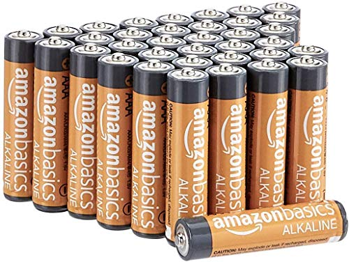 AmazonBasics 36 Pack AAA High-Performance Alkaline Batteries, 10-Year Shelf Life, Easy to Open Value Pack