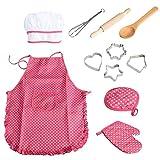 11pcs / pack chef de cocina Conjunto de niños Juegos de rol traje del cocinero con el delantal del...