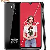 OUKITEL K9 Unlocked Phones 7.12 Inch FHD+ Screen Smart Phone 4G LTE Unlocked Global Version Dual-SIM Cell Phone 64GB ROM 4GB RAM Android 9.0 6000mAh Battery 5V/6A Fast Charge - Black