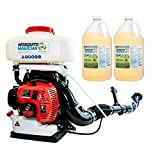 Mosquito Magician Gas Powered Backpack Fogger with 2 Gallons Natural Mosquito Killer & Repellent Concentrate - Contractor Pack