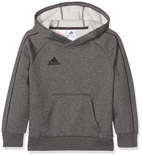 Adidas Core18 Hoody Felpa Unisex Bambini, Grigio (Brgros/Nero), 9-10 anni