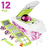 Sedhoom 12-in-1 Vegetable Chopper Onion Chopper with Large Container Multi Food Chopper Vegetable Cheese Fruit Chopper Dicer Cutter Series