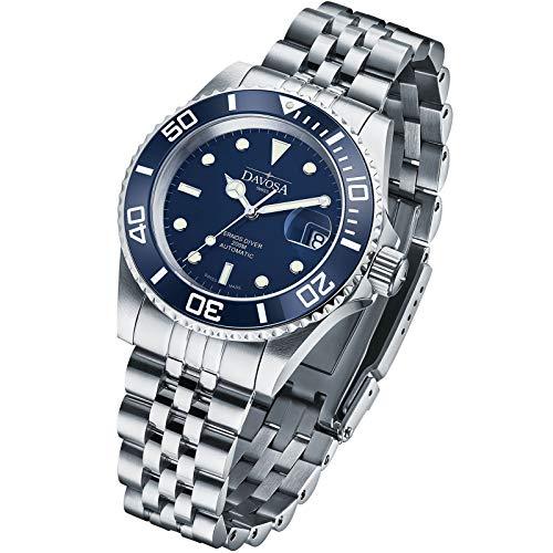 Davosa Ternos Herren-Armbanduhr, Keramik, professionell, automatisch, analog, mit luxuriöser Lünette, Blue Penta, Mechanisch