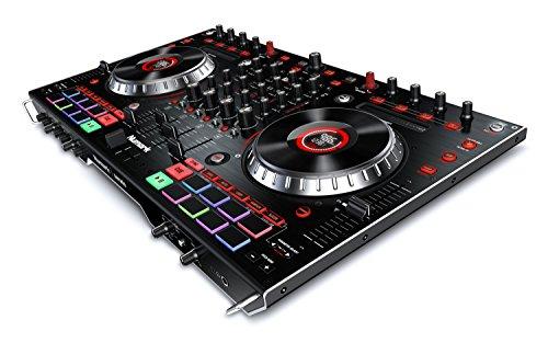Numark NS6II - Console DJ a 4 Canali per Serato DJ (incluso), con Doppia Porta USB, Mixer Digitale Indipendente, Jog Wheel e Pad Performance MPC