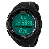 Mens Sports Digital Watch - 5 Bars Waterproof Military Digital Watches with...