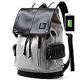 OHHCO Laptop de 15.6' Mochila de Viaje con Carga USB Thin Ligh Multifuncional Funda Universal para Estudiantes Oficina Hombres Mujeres