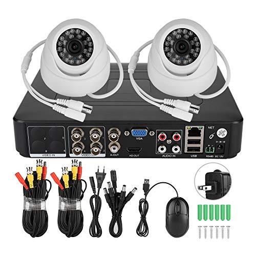 Cámara de seguridad 720P 2CH, kit de cámara de videovigilancia para sistemas de seguridad para el hogar, para (regulaciones de 100-240 V de EE. UU.)