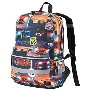 Haul Boys Backpack Racing Car Design | Ideal for use as a Travel Bag and School Bag (Racing Car)