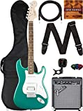 Fender Squier Affinity Stratocaster - Race Green Bundle with Frontman 10G Amplifier, Gig Bag, Instrument Cable, Tuner, Strap, Picks, and Austin Bazaar Instructional DVD