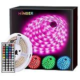 MINGER LED Strip Lights 16.4ft, RGB Color Changing LED Lights for Home, Kitchen, Room, Bedroom, Dorm...