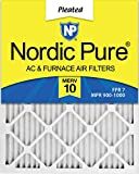 Nordic Pure 16x24x1 MERV 10 Pleated AC Furnace Air Filter, Box of 6