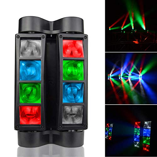 AONCO 80W RBGW Effetto Luce DJ Auto Suono Console Testa di Ragno di Doppio-fila DMX-512 7/15 Canali RGBW 4 Colori LED Luce di Scena Master-slave