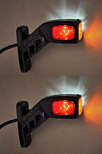 2luci LED da 12V/24V per luci di posizione laterale, per camion, rimorchio, carrozzeria, cassone...