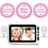 2 Cameras with 4.3' Video Baby Monitor, Auto-Switch Cameras, Up to 8 Hours 1200mAh Rechargeable Battery, Doggie Camera, 2-Way Talk, Power Saving/VOX, Zoom in, Night Vision, Temperature and Lullabies