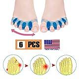 Corrector de juanetes, separador de dedos, protectores de alivio del dolor para bursitis, gel y silicona para ...