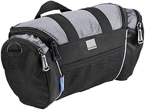 Roswheel 11494 Compact Reflective Waterproof Handlebar Bag (4l) - Grey, Blue