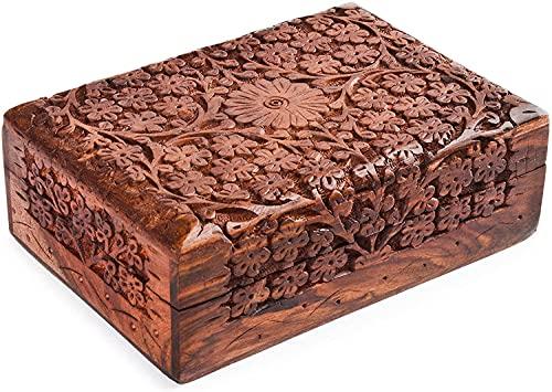 ARTISENIA Handmade Rosewood Keepsake Box Jewelry Chest...