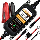 MOTOPOWER MP00205A 12V 800mA Automatic Battery Charger, Battery Maintainer, Trickle Charger, and Battery Desulfator