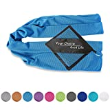 Your Choice Cooling Towel Snap Cooling Neck Wrap Cold Towel for Athletes Sports Golf Yoga Workout Outdoor Men and Women Blue 12 x 40 Inch
