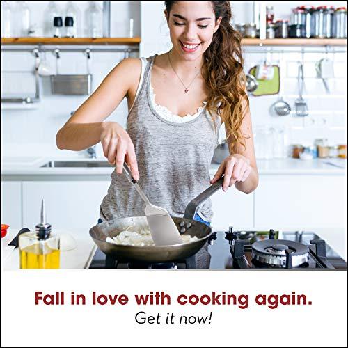 Product Image 7: HOME HERO Stainless Steel Kitchen Utensil Set - 29 Cooking Utensils - Nonstick Kitchen Utensils Cookware Set with Spatula - Best Kitchen Gadgets Kitchen Tool Set Gift