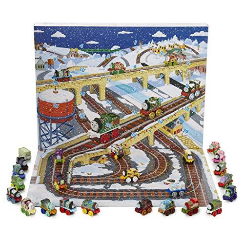 Thomas & Friends Calendario Avvento Trenino Thomas | Calendario dell' Avvento Ragazzo Il Trenino Thomas Mini Trenino, Confezione a Sorpresa con 24 Veicoli Giocattolo con 6