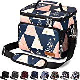 Insulated Lunch Bag for Women/Men - Reusable Lunch Box for Office Work School Picnic Beach - Leakproof Cooler Tote Bag Freezable Lunch Bag with Adjustable Shoulder Strap for Kids/Adult - Pyramid