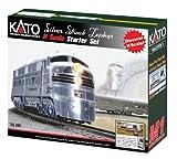Kato USA Model Train Products N CB&Q Streak Zephyr UNITRACK Starter Set, Silver