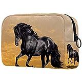 Kit de Maquillaje Neceser Dark Horse Salta al anochecer Make Up Bolso de Cosméticos Portable Organizador Maletín para Maquillaje Maleta de Makeup Profesional 18.5x7.5x13cm