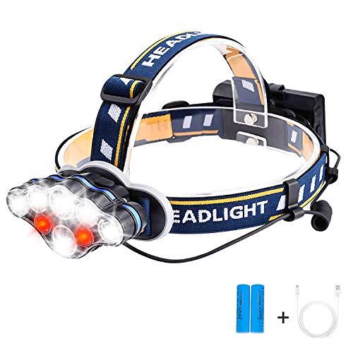 SZ-Climax LEDヘッドライト 充電式【18000ルーメン】 18650バッテリー付き 防災/停電時用/軽量/登山/夜釣り/キャンプ