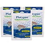 Platypus Orthodontic Flossers for Braces – Unique Structure Fits Under Arch Wire, Floss Entire Mouth in Less Than Two Minutes, Increases Flossing Compliance Over 84% - 30 Count Bag (Pack of 3)