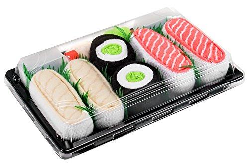 Rainbow Socks - Donna Uomo Calzini Sushi Butterfish Salmone Cetriolo Maki - 3 Paia - Taglia 36-40