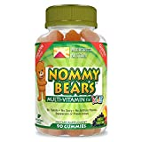 Nommy Bears MULTIVITAMIN Vegetarian, Gelatin-Free Gummies for Kids, Children, Men, Women •5 Delicious Flavors •11 Essentials •Gluten-Free •Halal/Kosher Friendly •Mommy Approved •Bear Shapes •90 Count
