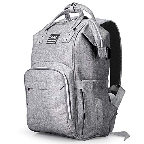 BabyX Diaper Bag Backpack Multifunction -Grey